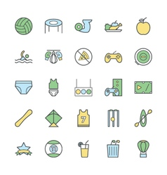 Sports bold icons 5 vector