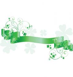 St Patrick's day scroll vector image