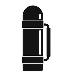 Survival thermos bottle icon simple style vector