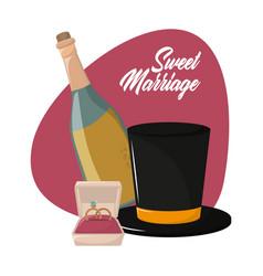 sweet marriage cartoon vector image