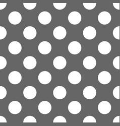 Tile polka dots grey pattern for wallpaper vector