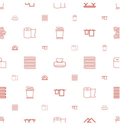 Towel icons pattern seamless white background vector