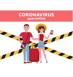 Vacation season cancellation coronavirus novel vector