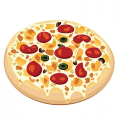 vector pizza vector image vector image