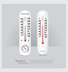 Weather thermometer isolated vector