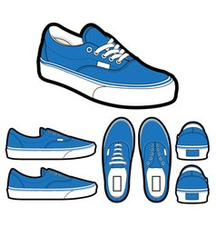 classic era shoes vector image vector image