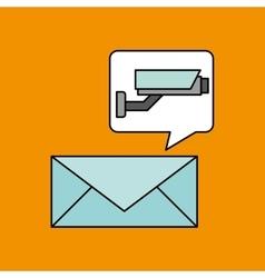 email camera surveillance design vector image