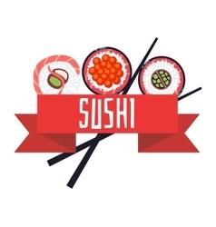 Japanese sushi menu template vector image vector image