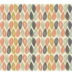 Leaf seamless pattern background vector image vector image