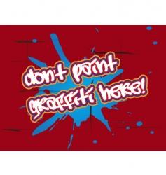 no graffiti vector image