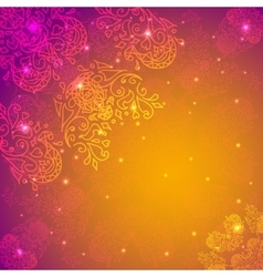 Orange abstract flower background Your vector image vector image