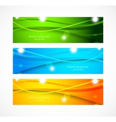 Set of banners with wavy lines vector image
