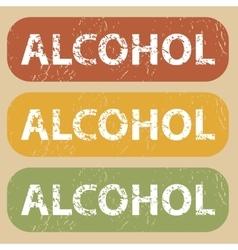 Vintage alcohol stamp set vector