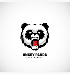 angry panda abstract team mascot label or vector image vector image