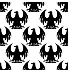 Black eagle seamless pattern vector image vector image