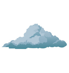 cloud climate weather cold shadow vector image vector image