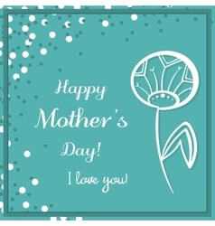 Dandelion Mothers Day Blue vector image vector image