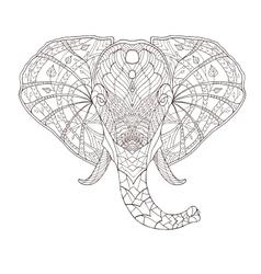 Elephant Ethnic patterned vector image