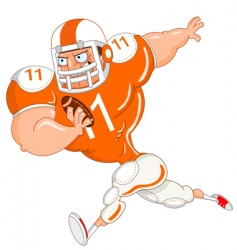 football player vector image