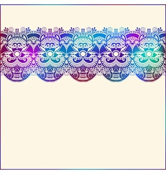 ornate floral background with ornament stripe vector image