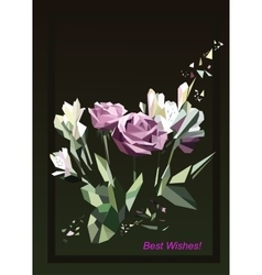 roses Greeting card vector image vector image