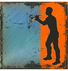 brass player vector image vector image