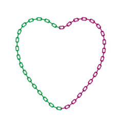 Chain in shape of heart vector