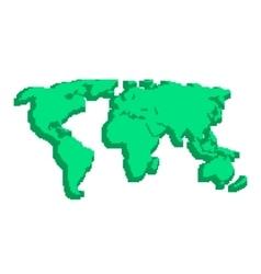 green 3d world map like pix elements vector image
