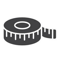 measure tape glyph icon centimeter and size vector image vector image