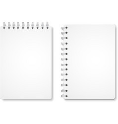 Paper blank notebooks spiral notepads vector image