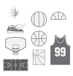 Set of Basketball vintage Design Elements vector image vector image