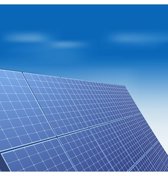 Solar panel against blue sky vector image vector image