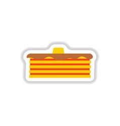 breakfast food menu item tasty fluffy homestyle vector image