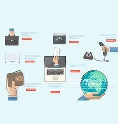 BUSINESS TECHNOLOGY and FINANCIAL ICONS vector image vector image