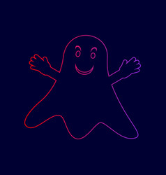 ghost isolated sign line icon with vector image