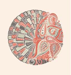 Paisley Mehndi Indian vector image