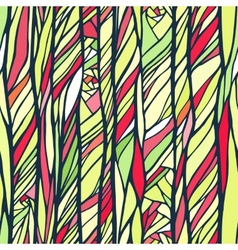 Seamless pattern with colorful abstract doodle vector image vector image