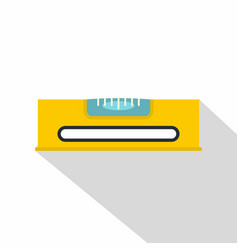 yellow working tool bubble level icon flat style vector image vector image