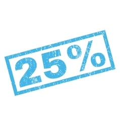 25 Percent Rubber Stamp vector