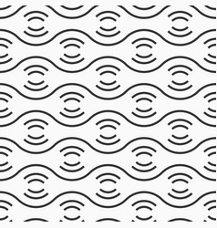 abstract seamless pattern of horizontal wavy vector image