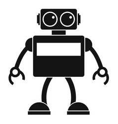 android robot icon simple style vector image