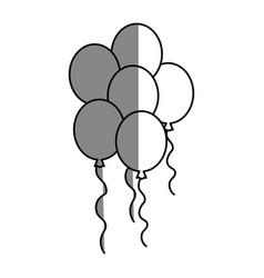 Balloons over white vector