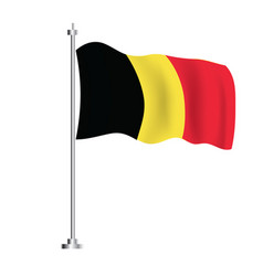 belgium flag isolated wave flag belgium country vector image