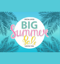 Big summer sale abstract background vector