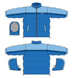 Blue Snowjacket vector