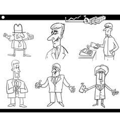 business set coloring page vector image vector image