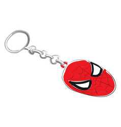Clipart a red-colored spider man key chain vector