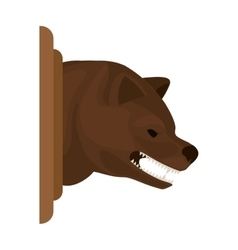 color image with decorative bear head growling vector image