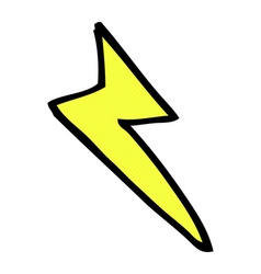 Comic cartoon lightning bolt symbol vector