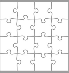 complete puzzle template vector image